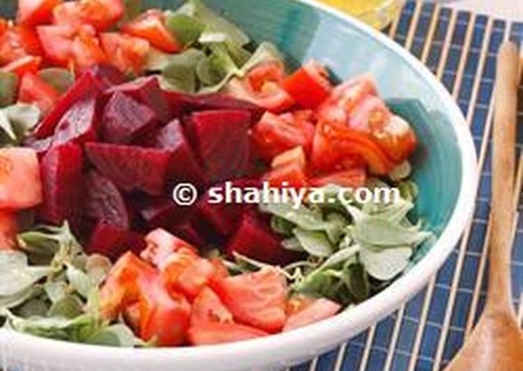 Beetroot and watercress salad