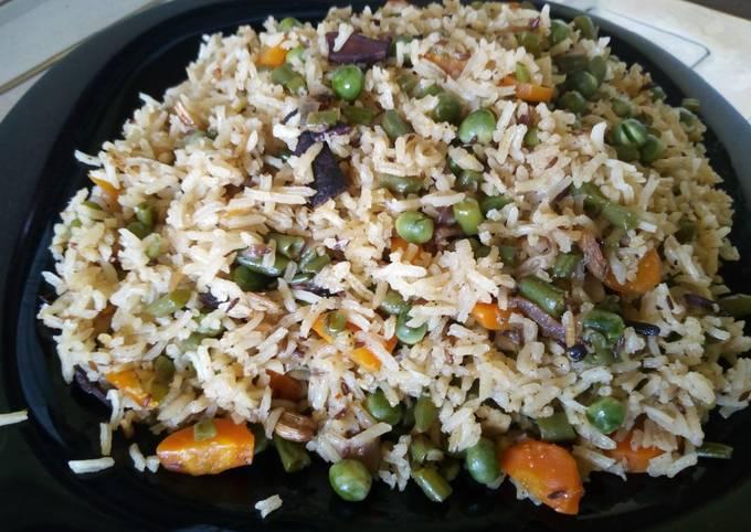 Vegetable pulao/pilau