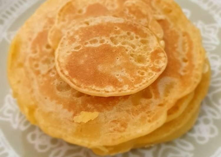 Pancake Santan tanpa mixer dan baking soda