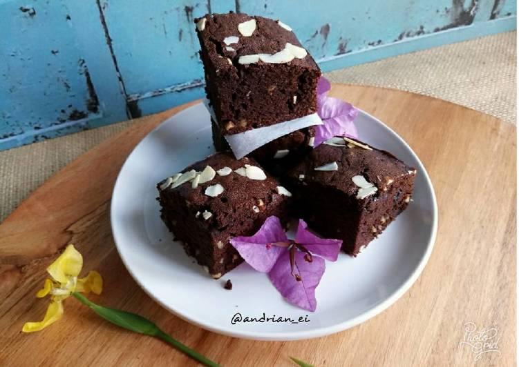 Brownies Panggang Putih Telur (Tanpa Pengembang)