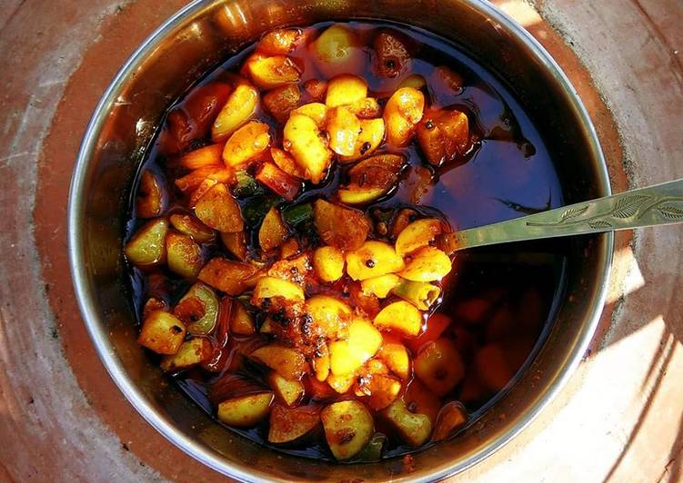 Recipe of Most Popular Instant Amla / Indian Gooseberry and Kacchi Haldi / Raw Turmeric Pickle