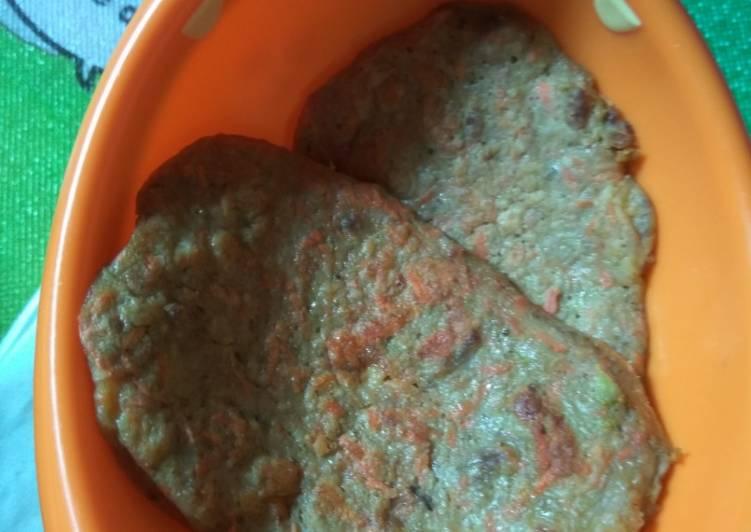 Resep Pancake daging sayur karbo++ untuk anak 7m+ Terbaik