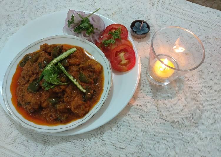 Simple Way to Prepare Ultimate Chicken tikka karhai masala/ taste fully dish
