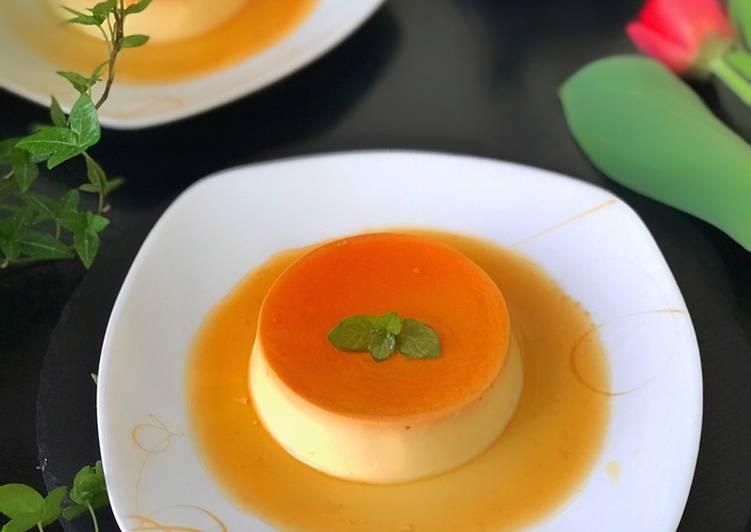 Caramel Custard Pudding Kukus