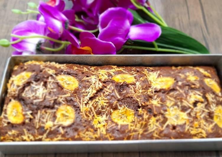Brownies pisang panggang takaran sendok