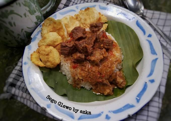 Sego Glewo / Nasi Glewo khas Semarang foto resep utama