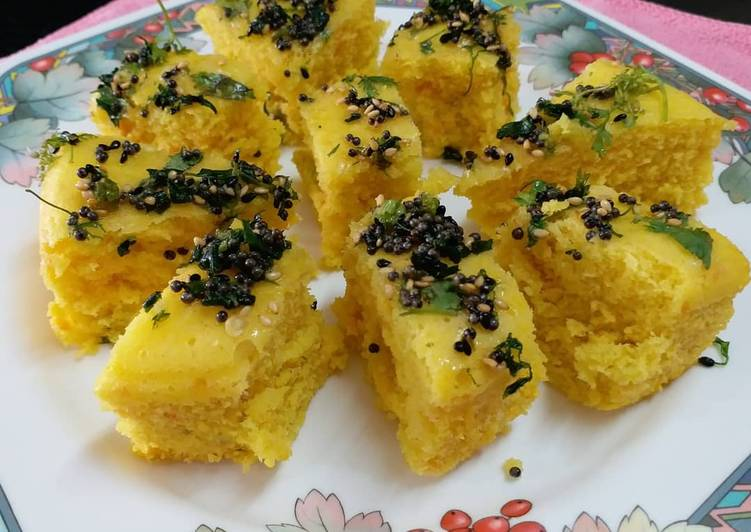 Grandmother's Dinner Easy Special Moong Dal Dhokla