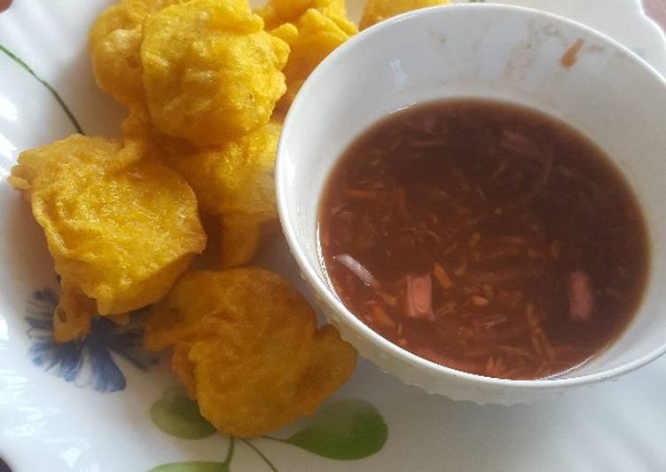 Steps to Prepare Super Quick Homemade Viazi Karai/hot & sweet tamarind sauce