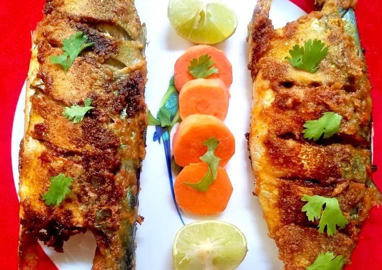 Recipe of Homemade Stuffed Mackerel fry (bangda)