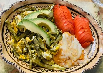 Easiest Way to Cook Perfect Cactus with Egg Nopales con Huevo10 mommasrecipes