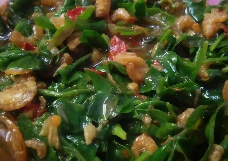 tutorial buat bayam brazil goreng udang kering  lezat resepiayamnet Resepi Mee Goreng Sardin Enak dan Mudah