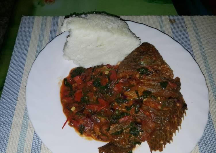 Wet fried Tilapia Fish
