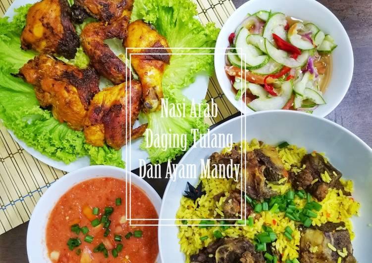 Nasi Arab Daging Tulang dan Ayam Mandy - velavinkabakery.com