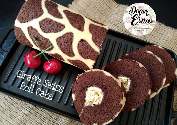 Giraffe Swiss Roll Cake - cookandrecipe.com