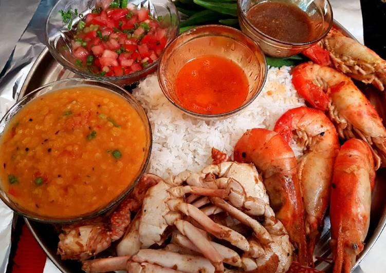 Mixture of seafood