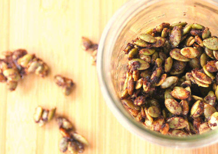 Recipe of Quick Chinese 5-Spice Maple Candied Pumpkin Seeds