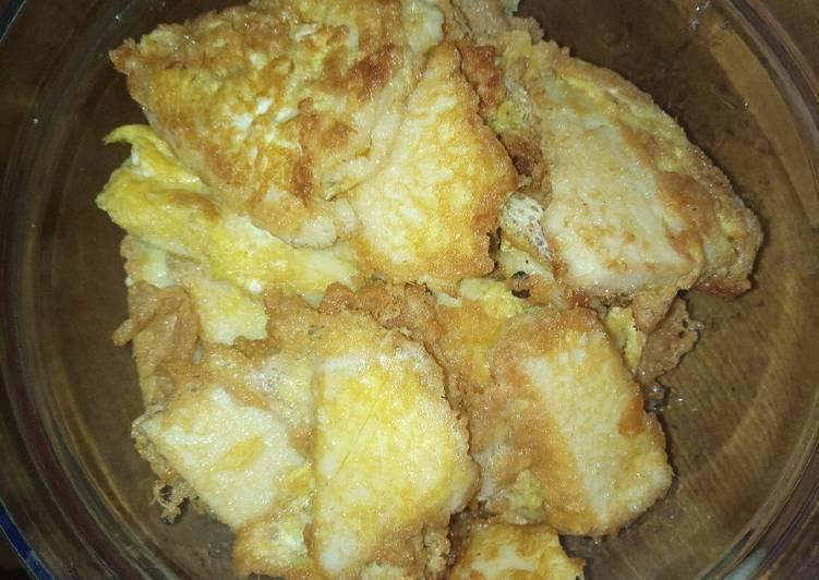 Ugali fried with eggs#mystaplefoodrecipecontest