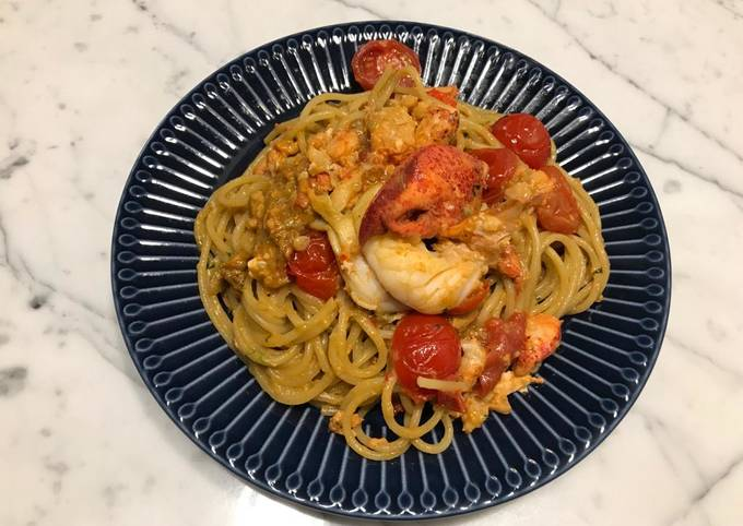 🦞 Lobster Pasta with Cream Sauce