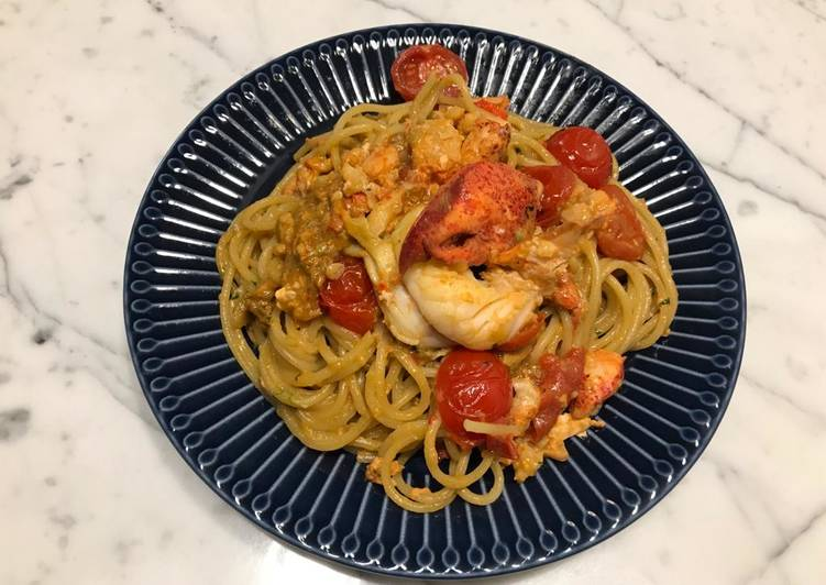 How to Make Appetizing 🦞 Lobster Pasta with Cream Sauce