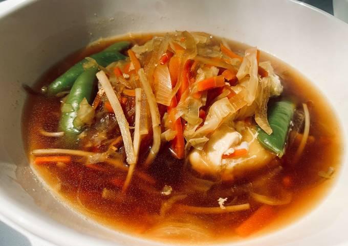 Long life & Health! Warm Soba Noodle