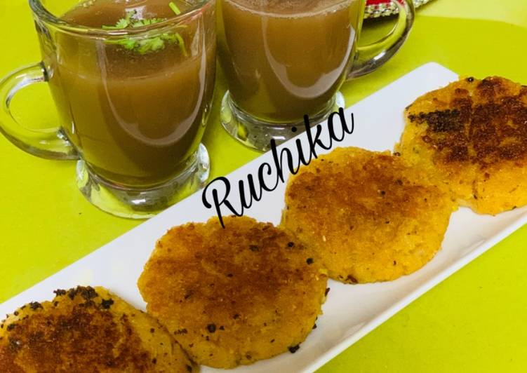 Chickpeas cutlets with Chana soup - Laurie G Edwards