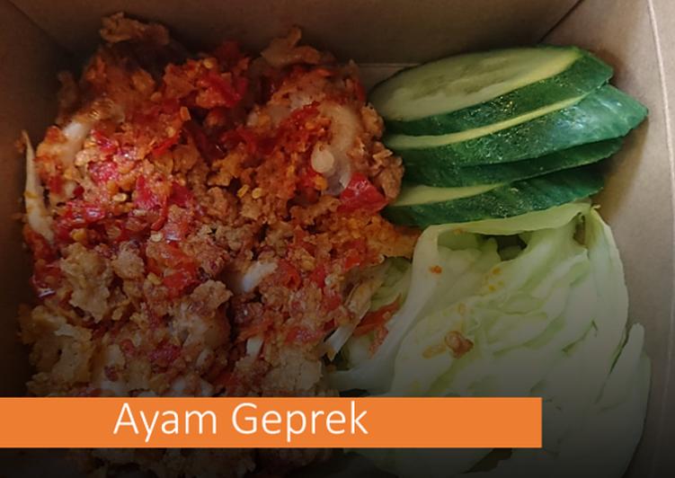 Resep Ayam geprek (Jualan di Belanda), Enak Banget
