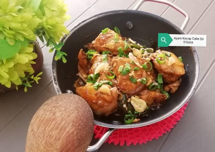 Ayam Kecap Cabe Hijau
