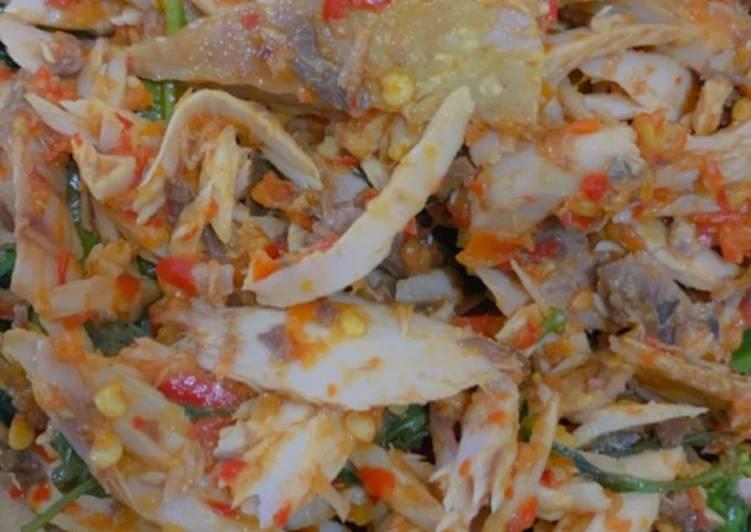 Tongkol suwir pedas masak woku