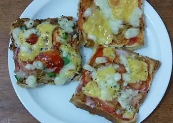 How to Cook Appetizing Bread tikka pizza Ramadan iftar contest cookpad