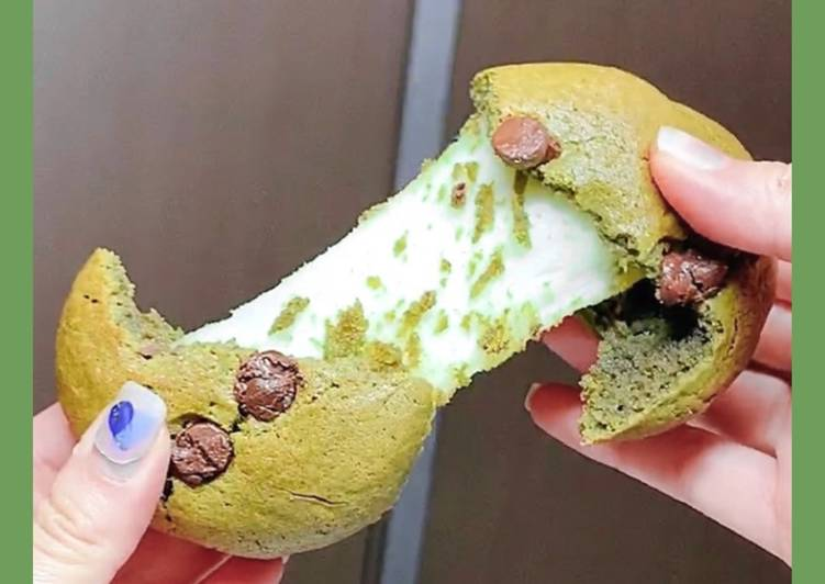 How to Make Favorite Matcha Mochi Cookie🍪🥰