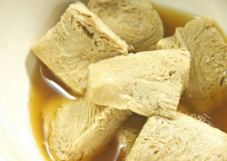 Yuba-Style Simmer with Frozen Firm Tofu