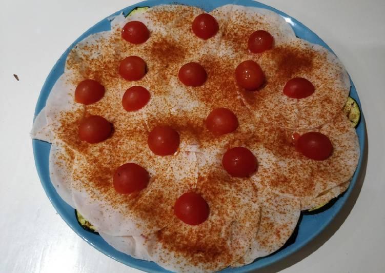 Cena ligera de Calabacín, Pavo y Tomate
