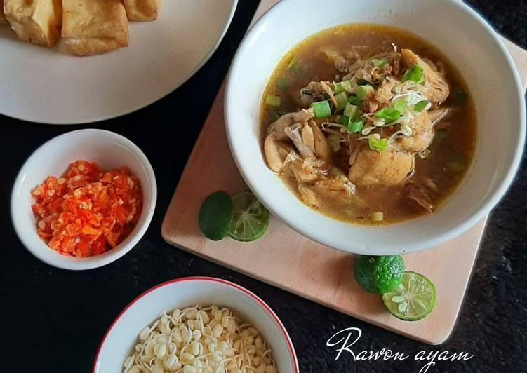 Rawon Ayam menu makan siang