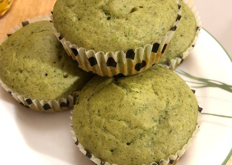 Resep Sweet Spinach Muffins (Muffin Bayam) untuk Batita Paling Mudah