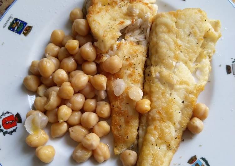 Ricetta Merluzzo fritto con ceci                   #bastachesiafritto