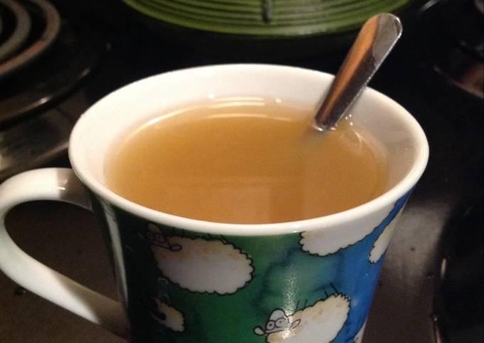 Hot Green Tea with Orange Mango Juice