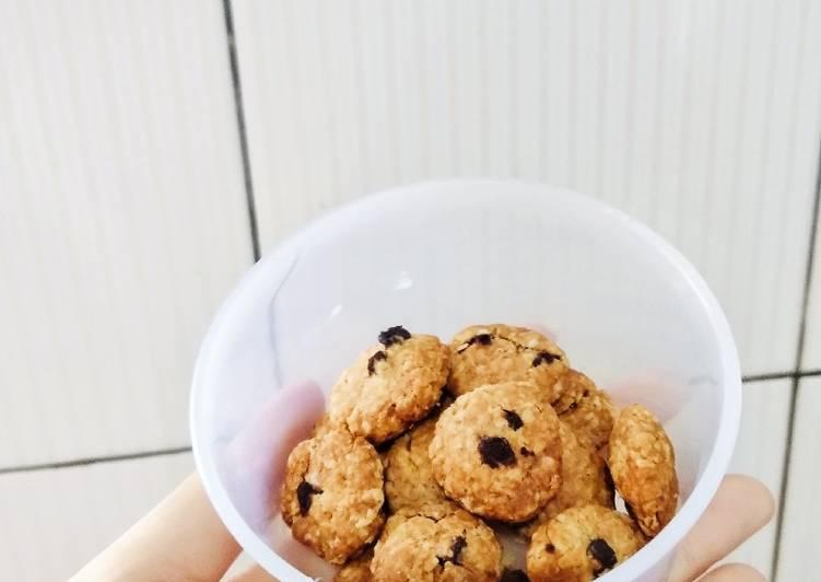 Bagaimana Caranya Mempersiapkan Berselera Oatmeal Cookies Renyah 3 Bahan(simpel,healthy And Diet Friendly)