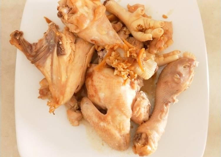 Ayam Pekcamkee, Kuah dibuat sup sayur. Praktis!
