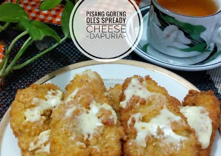 Pisang goreng krispi oles spready cheese