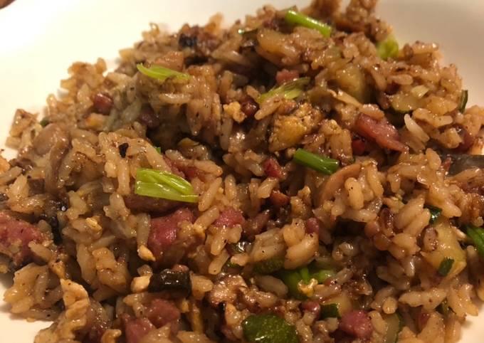 Ham and veg fried rice