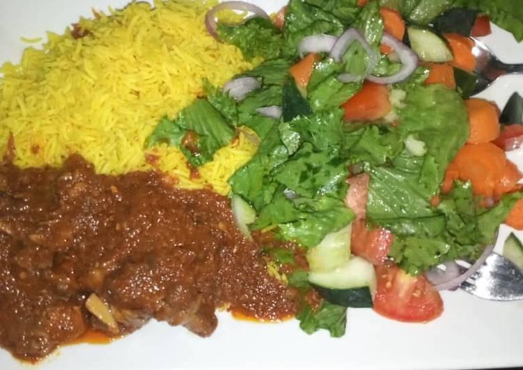 Basmati Rice cooked in turmeric