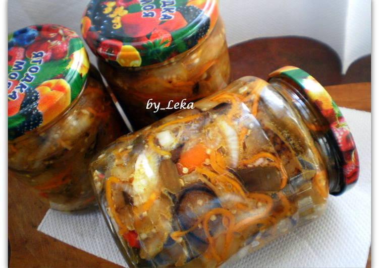 рецепт баклажан по-корейски на зиму с фото