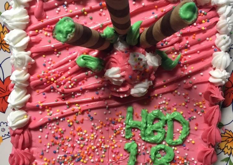 Resep Enak Rainbow Cake Ultah Rumahan
