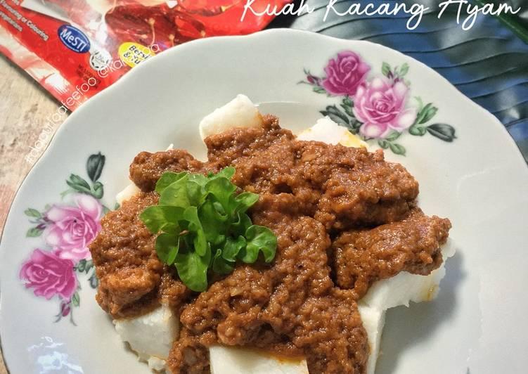 Nasi Impit Kuah Kacang Ayam #goldenapron2020 - velavinkabakery.com