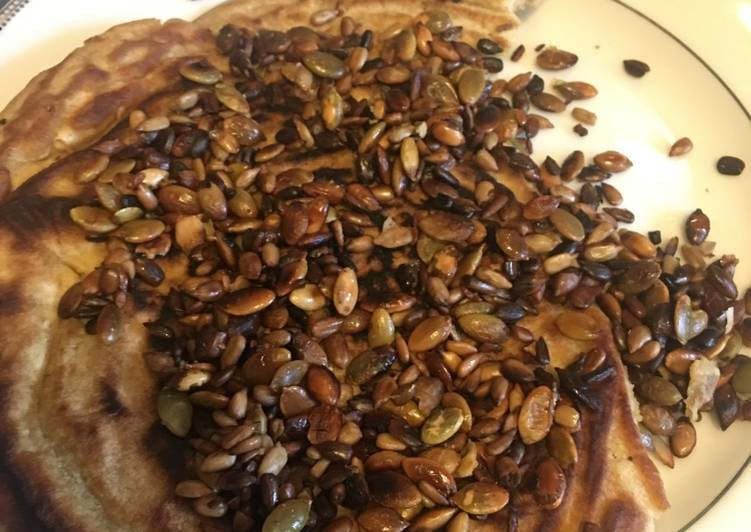 Seeded quick flat bread (cook 5min)