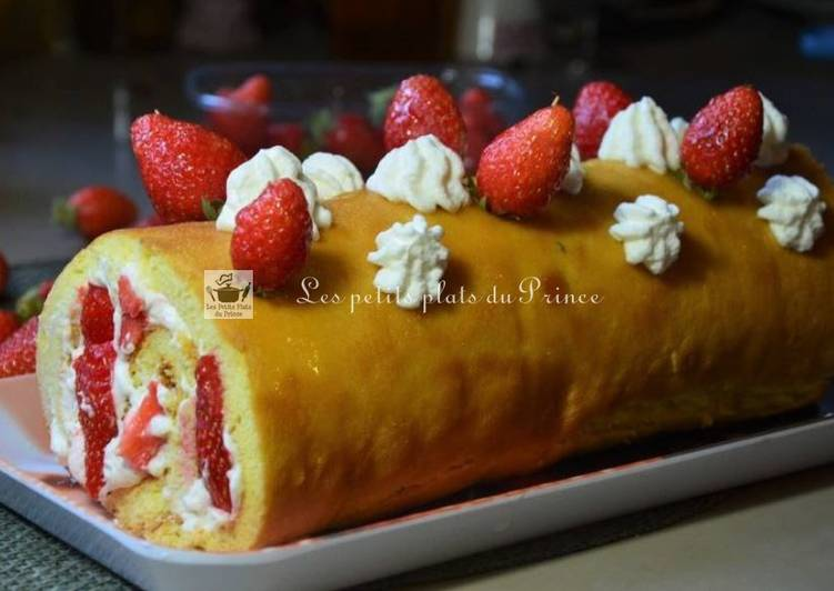 Roll-cake aux fraises