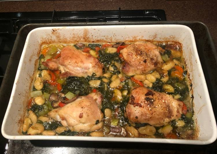 Step-by-Step Guide to Make Favorite Chicken & butter bean bake
