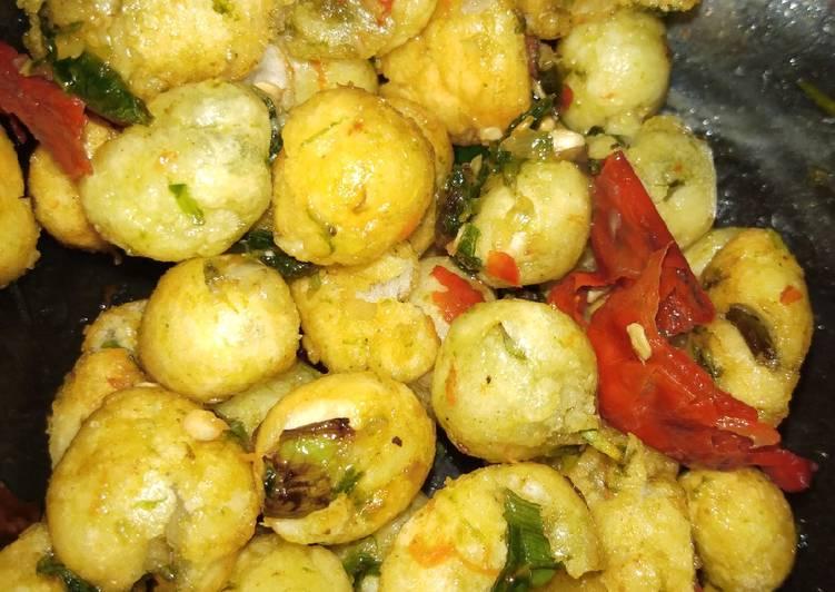 Resep Cimol Pedas Cemilan Pedas Oleh Farida Cooking Cookpad
