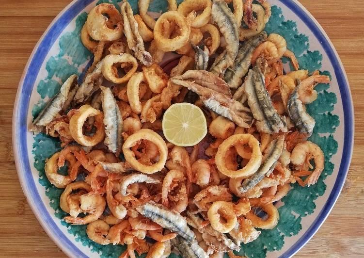 Ricetta Fritto misto di pesce con farina integrale 🌷