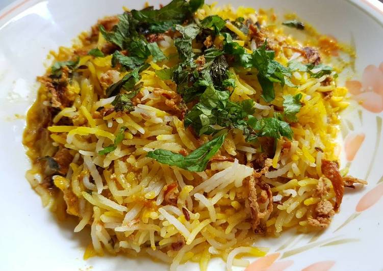 10 Minute Steps to Prepare Summer Hyderabadi Biryani Rice (with tutorial pics)